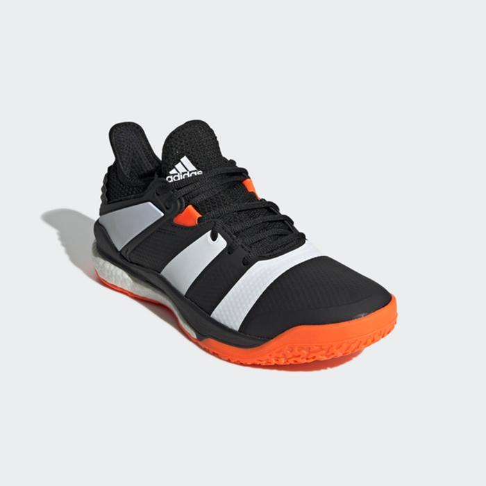 Chaussures de handball adulte StabilX noir orange