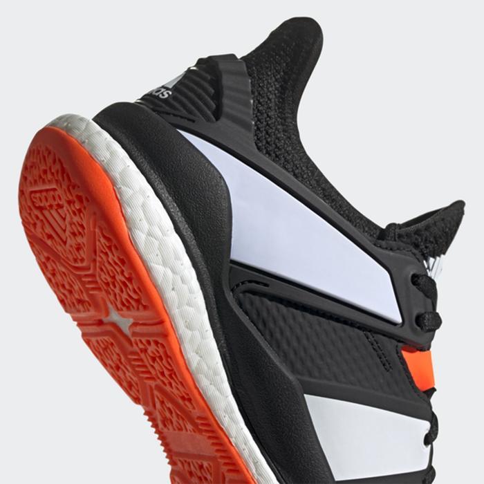 Handballschuhe Stabil X Erwachsene schwarz/orange