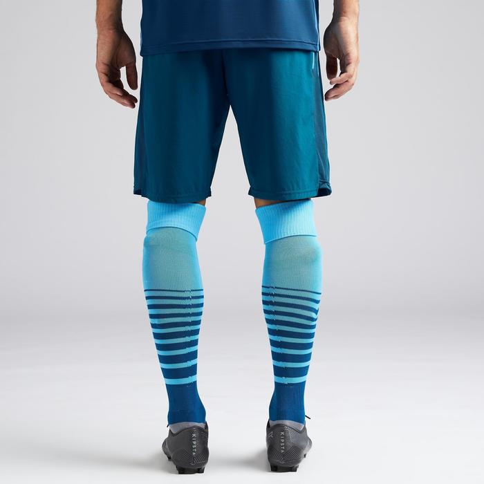 Short de football adulte 3 en 1 F540 bleu de prusse