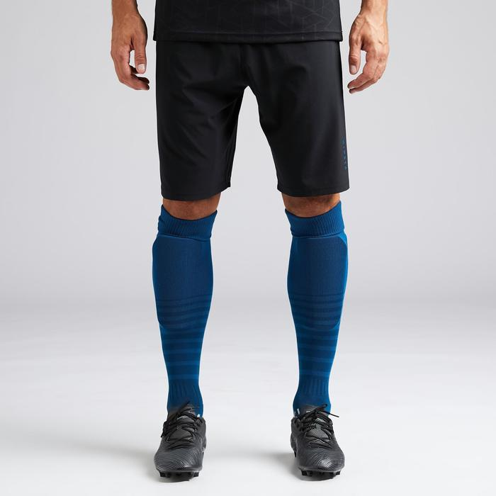 Short de football adulte 3 en 1 F540 noir et bleu