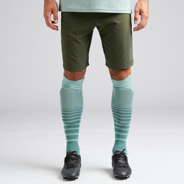 Pantalón corto de fútbol adulto 3 en 1 F540 caqui EXCLUSIVIDAD WEB