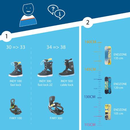 Endzone 105 cm Freestyle All Mountain Snowboard - Kids