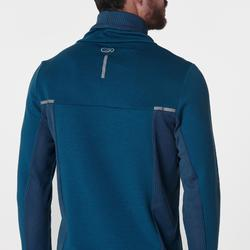 Sweat col montant jogging homme RUN WARM+ Bleu