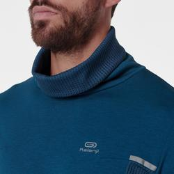 RUN WARM+ men's running pullover high-collar blue