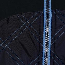 Sudadera equitación mujer SW500 azul marino y azul lavanda
