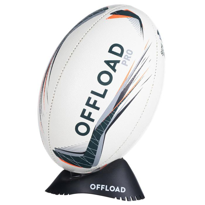 Tee Rugby Offload Bajo R100 negro
