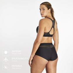 Laufshorts Boxershorts Damen schwarz/neongelb