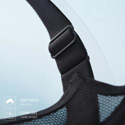 可調式罩杯跑步內衣KALENJI 黑色