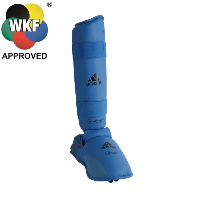 Scheen- en voetbeschermer voor karate blauw