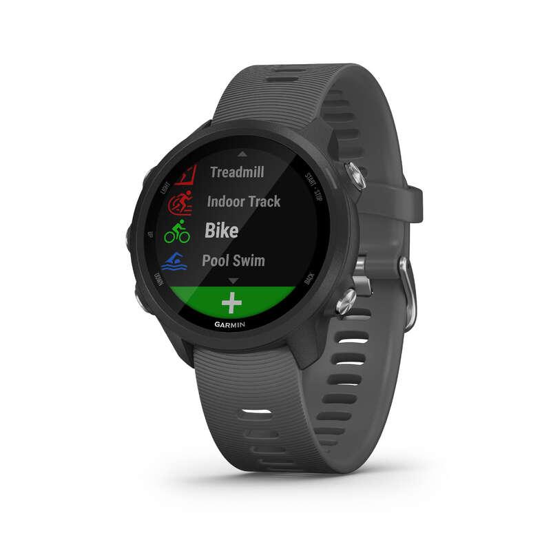 GPS és gyorsulásmérő órák Triatlon - Forerunner 245 szürke GARMIN - Triatlon felszerelés