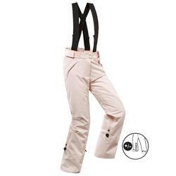 兒童滑雪長褲PNF 900 - 粉色