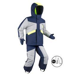 Skiset voor kinderen PNF 500 grijs/geel