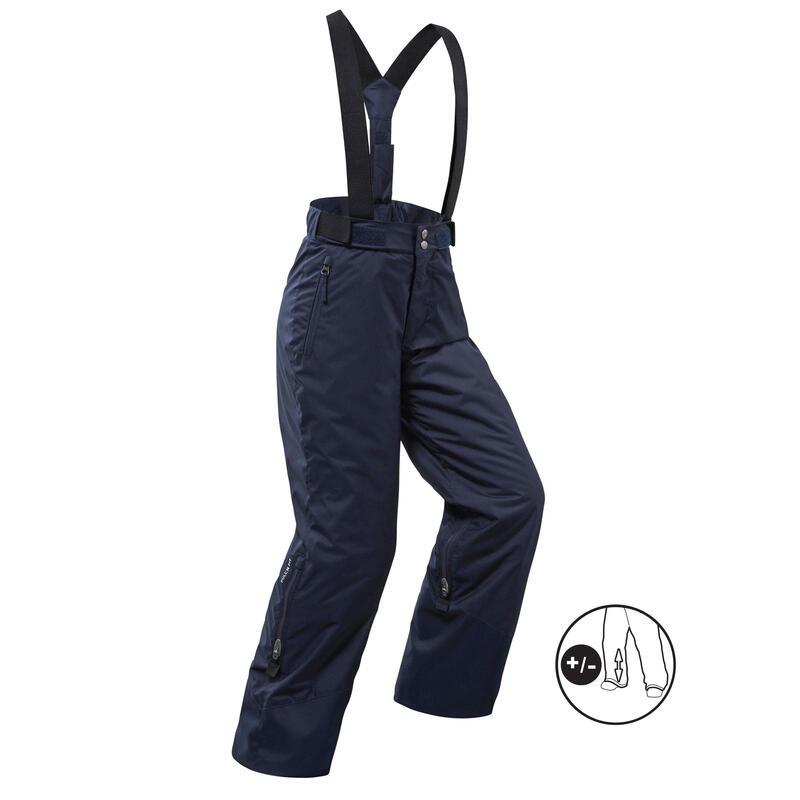 Pantalon impermeabil călduros schi PNF 500 Bleumarin Copii