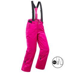 Pantalones de Esquí y Nieve Niños Wedze Ski-P 500 Rosa