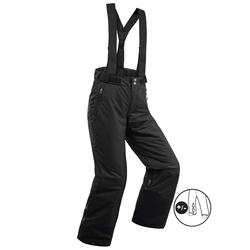 CHILDREN'S SKIING TROUSERS PNF 500 - BLACK