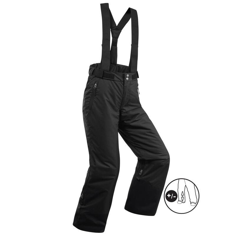 Pantalones de Esquí y Nieve Niños Wedze Ski-P 500 Negro