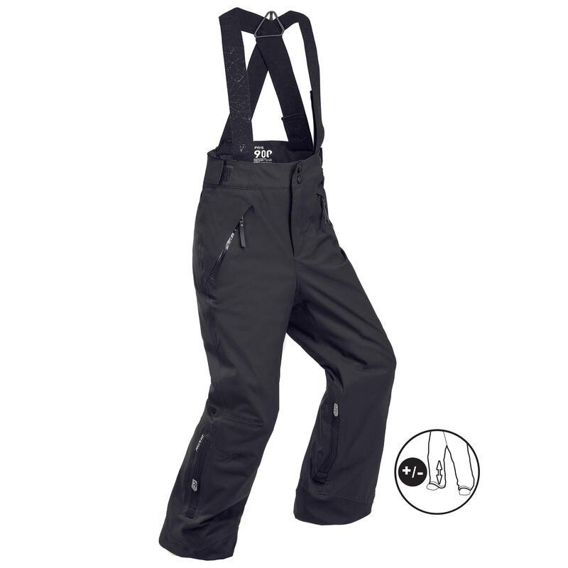 Pantalones de Esquí y Nieve Niños Wedze Ski-P PA 900 Negro