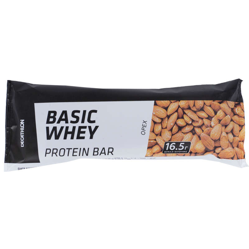 ПРОТЕИНЫ, БИОЛОГИЧ АКТИВ ДОБАВКИ Спортивное питание - Батончик со вкусом орехов DOMYOS - Спортивное питание