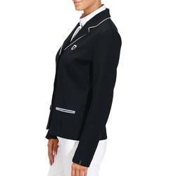 Wedstrijdjasje Paddock voor dames ruitersport marineblauw - 174241
