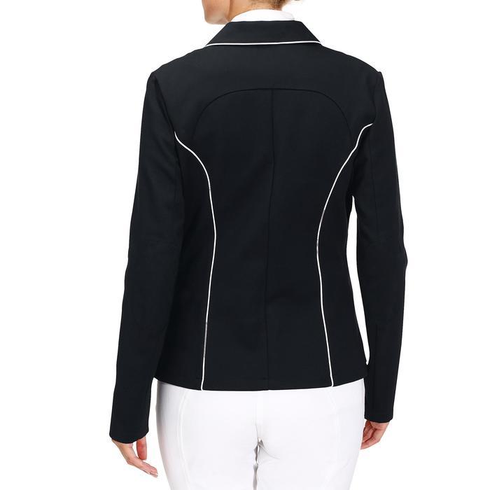 Wedstrijdjasje Comp100 voor dames ruitersport marineblauw