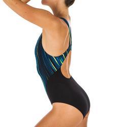 Maillot de bain de natation une pièce femme résistant au chlore Kamiye All Line