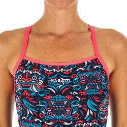 Sportbadpak voor zwemmen dames chloorbestendig Jade All Mask