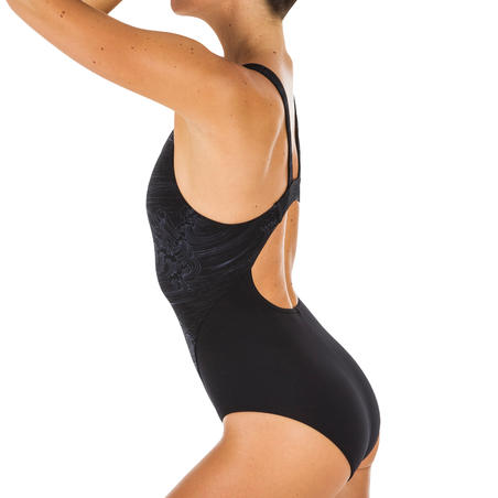 Women's one-piece chlorine-resistant swimsuit Kamiye - All Sea