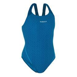 Maillot de bain une pièce de natation femme Kamyleon All Geo Bleu