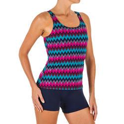 Women's Swimming One-Piece Tankini Swimsuit Heva - All Cheve Navy