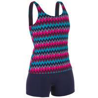 Women's Swimming 1-piece Tankini Swimsuit Heva All Cheve - Navy