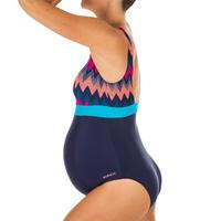 Women's Swimming One-Piece Maternity Swimsuit Romane All Cheve - Navy