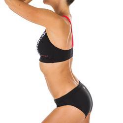 Haut de maillot de bain de natation femme Vega all bat black