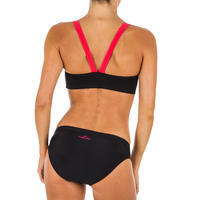 Women's Swimming Bikini Top - Vega All Bat Black