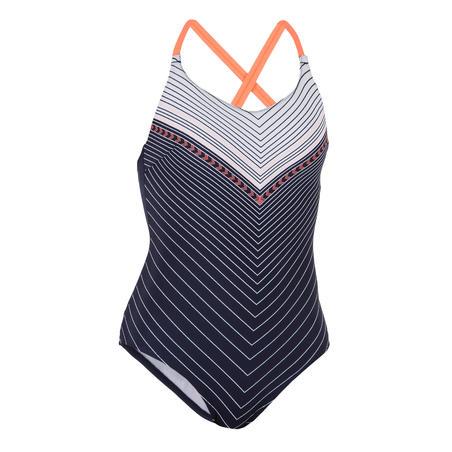 Women's Swimming One-Piece Swimsuit Riana - Gab Navy