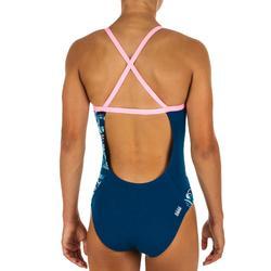 Sportbadpak voor zwemmen meisjes chloorbestendig Jade Wave