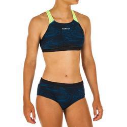 Bikinitop voor zwemmen meisjes chloorbestendig Kamyleon Sea