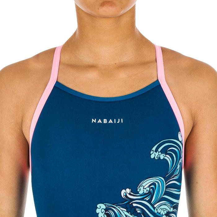 Maillot de bain de natation une pièce fille Jade Wave bleu