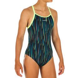 Sportbadpak meisjes chloorbestendig Jade All Neon