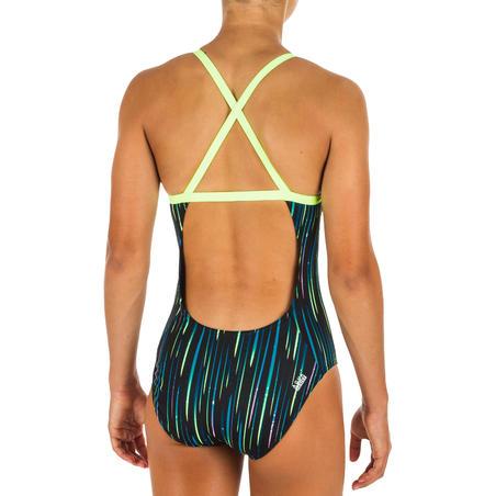 Maillot de bain de natation une pièce fille résistant au chlore Jade All Neon