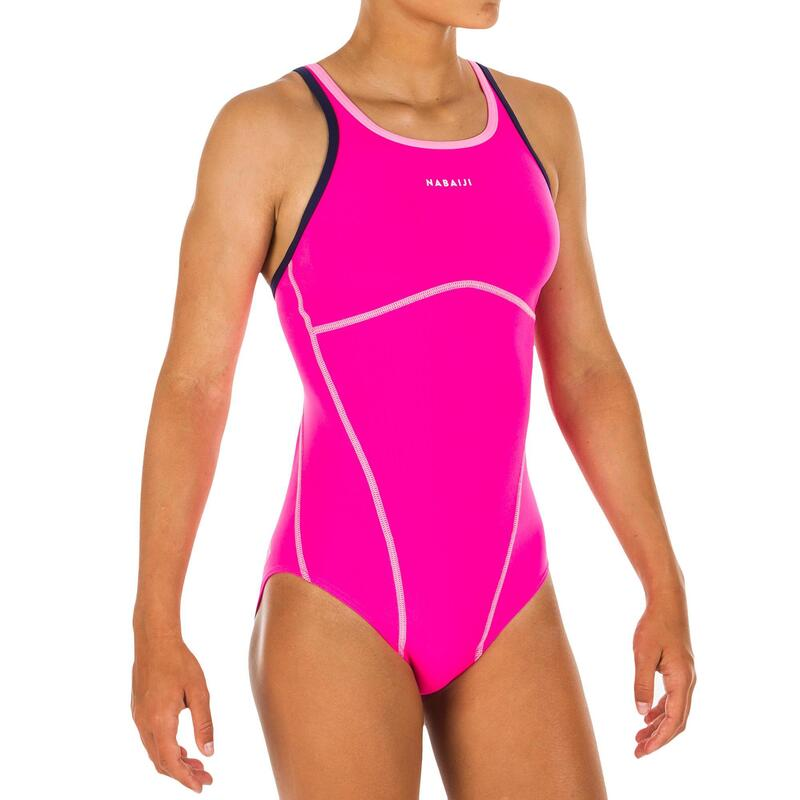Girls' one-piece swimsuit Kamiye - Pink