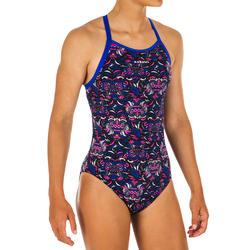 Sportbadpak voor zwemmen meisjes chloorbestendig Jade All Mask