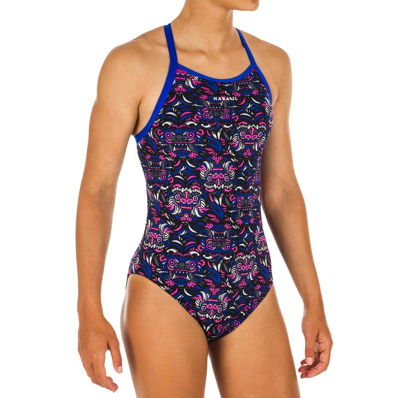 Sportbadpak voor zwemmen meisjes Jade All Mask zwart