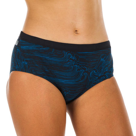 Girls' Swimming Chlorine-Resistant Bikini Bottoms - Kamyleon Sea