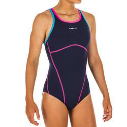 Sportbadpak voor zwemmen meisjes chloorbestendig Kamiye + blauw