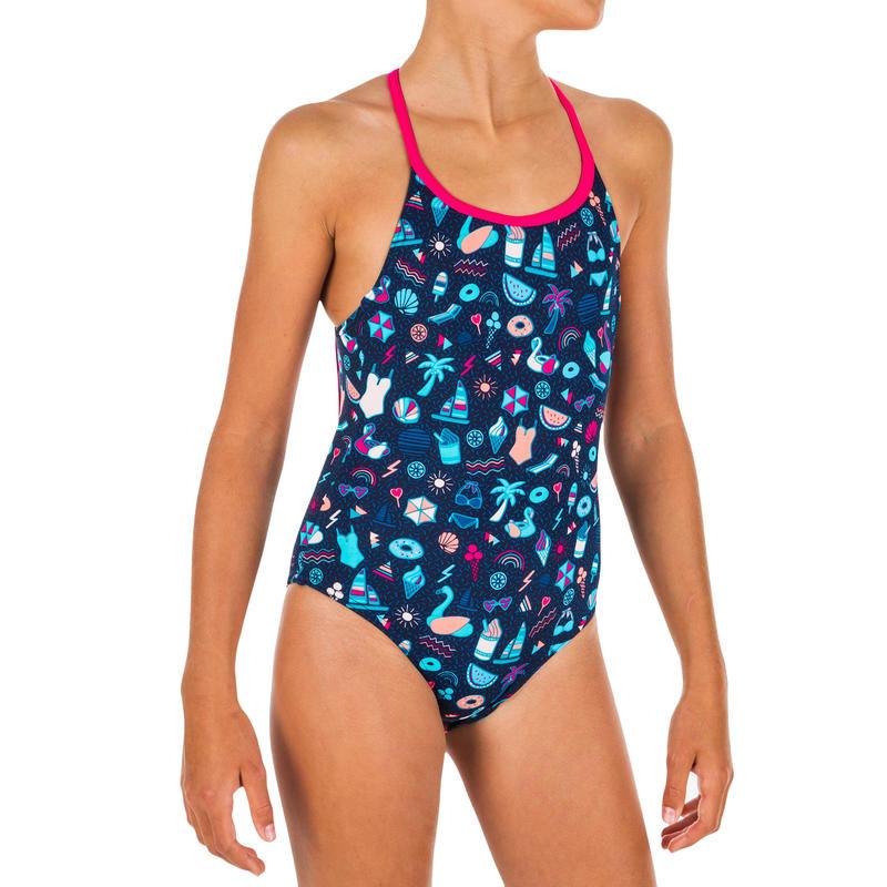 Maillot de bain de natation fille une pièce Riana all playa marine