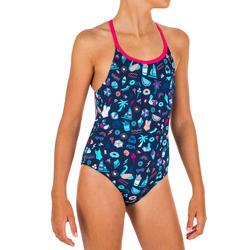 Fato de banho de natação menina Riana all playa marinho