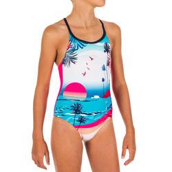 Badpak voor zwemmen meisjes Riana zon roze
