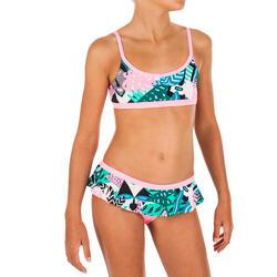 Bikini voor zwemmen meisjes Riana rokje All Mask groen