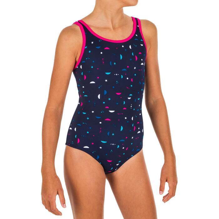 Badpak meisjes Heva+ All Star marineblauw