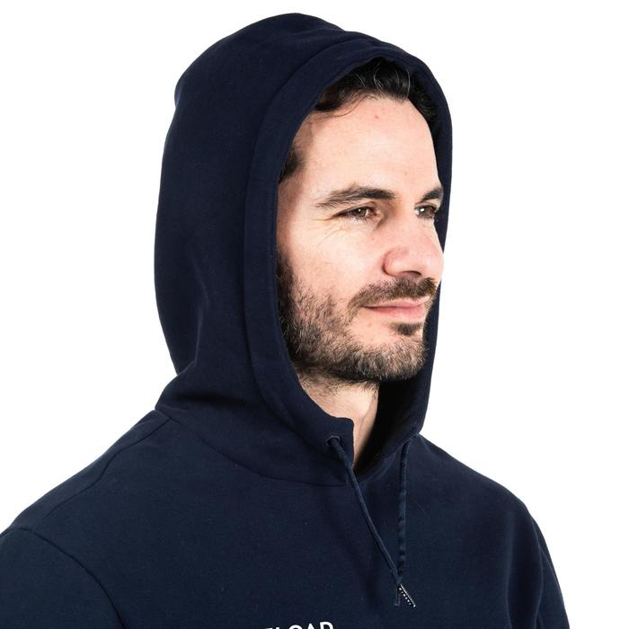 HOODIE SWEAT SHIRT CAPUCHE CLUB RUGBY R500 ADULTE bleu